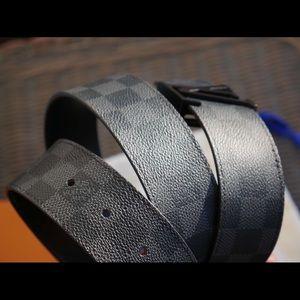 Authentic Louis Vuitton belt, Graphite Black.